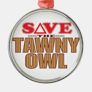 Tawny Owl Save Christmas Ornament