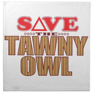 Tawny Owl Save Napkin