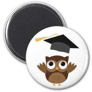 Tawny Owl Throwing Its Graduation Cap Magnet