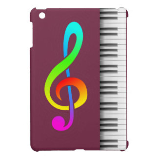 Tawny port treble clef piano cover for the iPad mini
