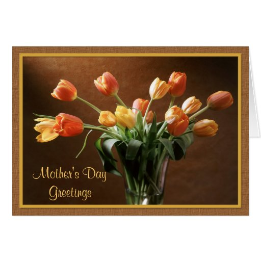 Tawny Tulips Greeting Card