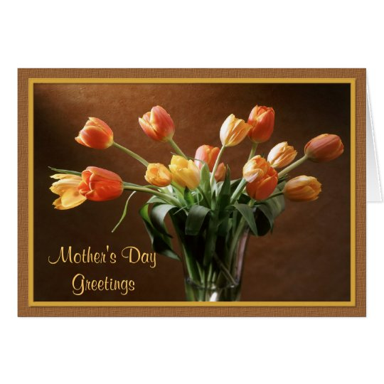 Tawny Tulips Greeting Card