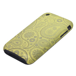 Tawny vintage paisley fabric iPhone 3 tough cover