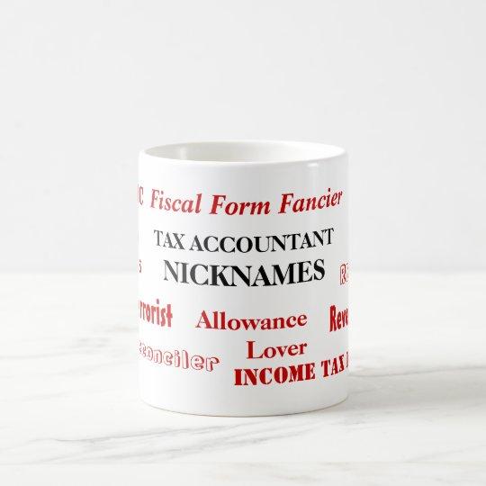 Tax Accountant Nicknames - Funny Tax Names Coffee