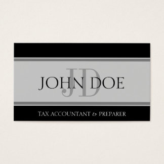 Tax Accountant Stripes Lt Grey Business Card