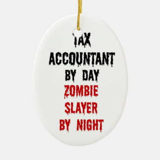 Tax Accountant Zombie Slayer Christmas Ornament