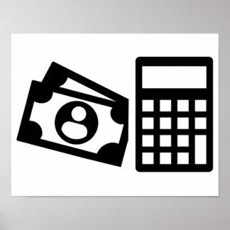Tax consultant calculator poster