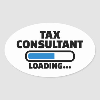Tax consultant loading oval sticker