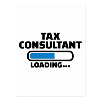 Tax consultant loading postcard
