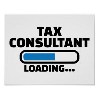 Tax consultant loading poster