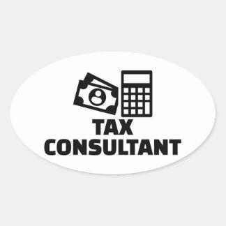 Tax consultant oval sticker