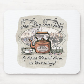 Tax Day Tea Party Gear Mouse Mat