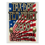 Tax Day Tea Party Sign Poster