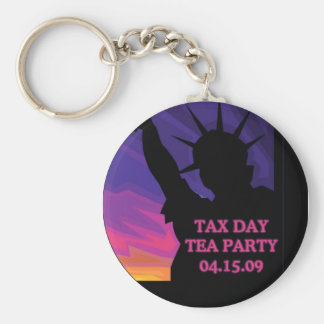 Tax Day Tea Party - Statue of Liberty Key Ring