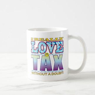 Tax Love Face Basic White Mug