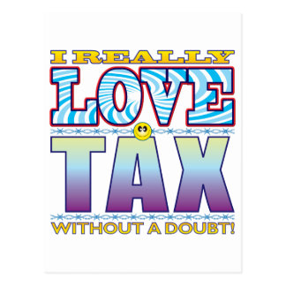 Tax Love Face Postcard