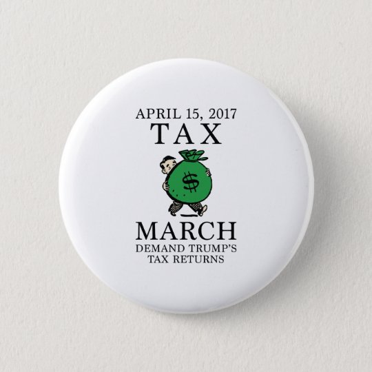 Tax March 6 Cm Round Badge