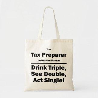 tax preparer tote bags