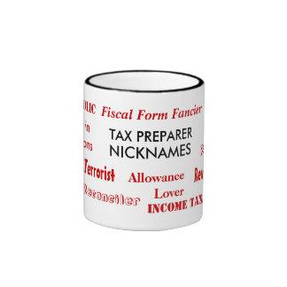 Tax Preparer Nicknames Ringer Mug
