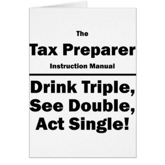 tax preparer note card