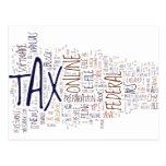 Tax Season on Clouds Postcard