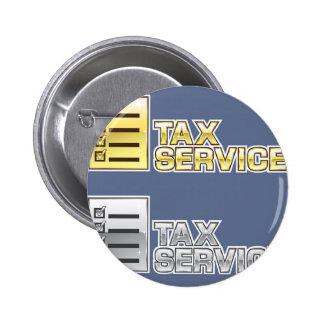 Tax Service Vector 6 Cm Round Badge
