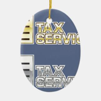 Tax Service Vector Christmas Ornament