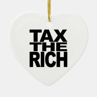 Tax The Rich Ceramic Heart Decoration