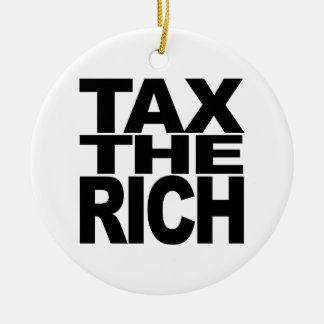 Tax The Rich Christmas Tree Ornaments