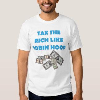 Tax The Rich Like Robin Hood - Occupy Wall Street Tshirt