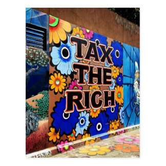 Tax the Rich - San Francisco Postcard