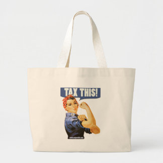 TAX THIS LARGE TOTE BAG