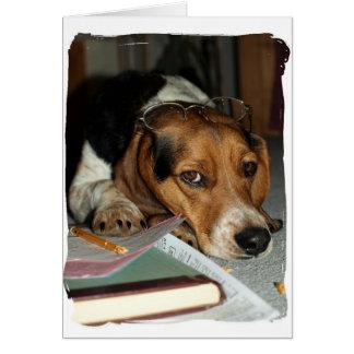 Tax Time CPA Beagle Tired Dog photo Card