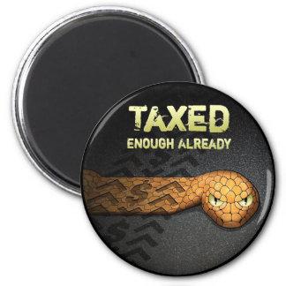 Taxed Enough Already 6 Cm Round Magnet