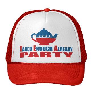 Taxed Enough Already Tea Party Movement Hat
