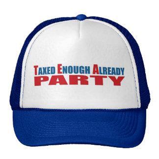 Taxed Enough Already Tea Party Patriot Hat