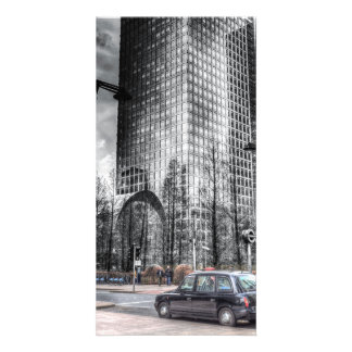 Taxi at Canary Wharf Personalised Photo Card