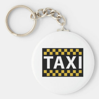 Taxi Basic Round Button Key Ring