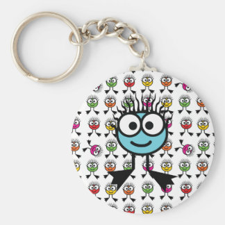 TAXI - Blue Swim Character Keyring Basic Round Button Key Ring