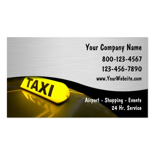 taxi business cards new - Taxi Business Cards