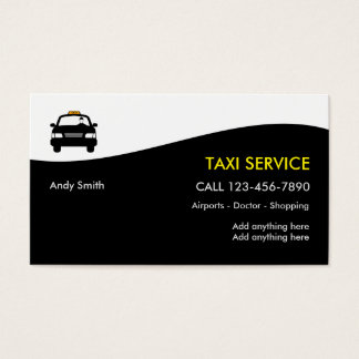 Taxi Business Profile Cards