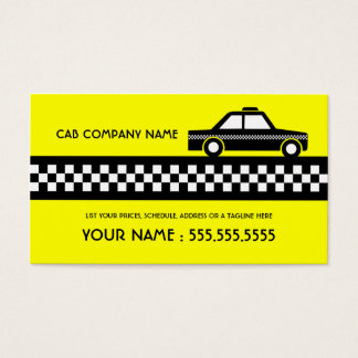 taxi cab business card