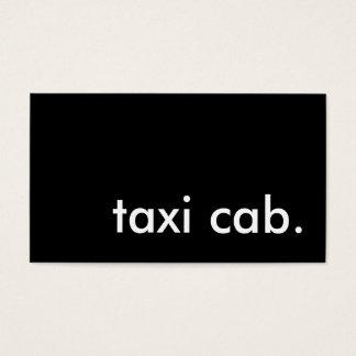 taxi cab. business card
