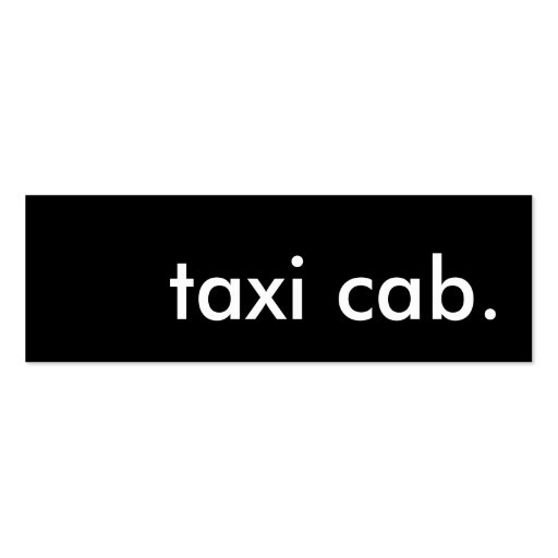 taxi cab. business card template