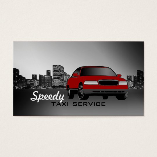 Taxi Cab Business Cards -Car Colour Changeable