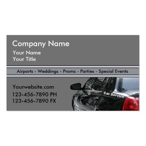 Taxi Cab Business Cards Fixed