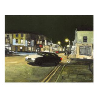 Taxi Cab, Cardiff, Wales, UK Postcard
