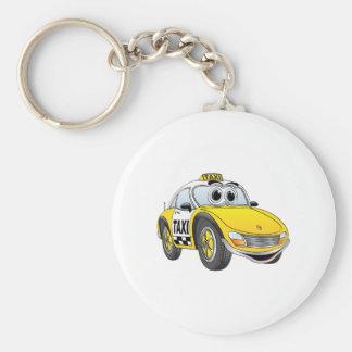 Taxi Cab Cartoon Key Ring