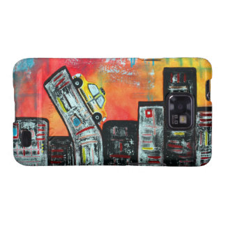 Taxi Cab City Art Samsung Galaxy SII Covers