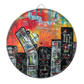 Taxi Cab City Art Dart Boards